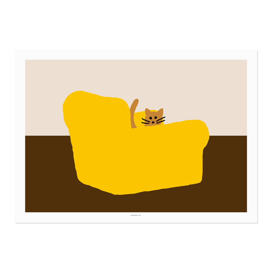ARMCHAIR - YELLOW POSTER