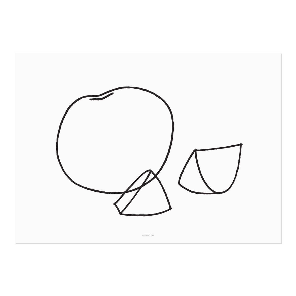 Fruits - line drawing