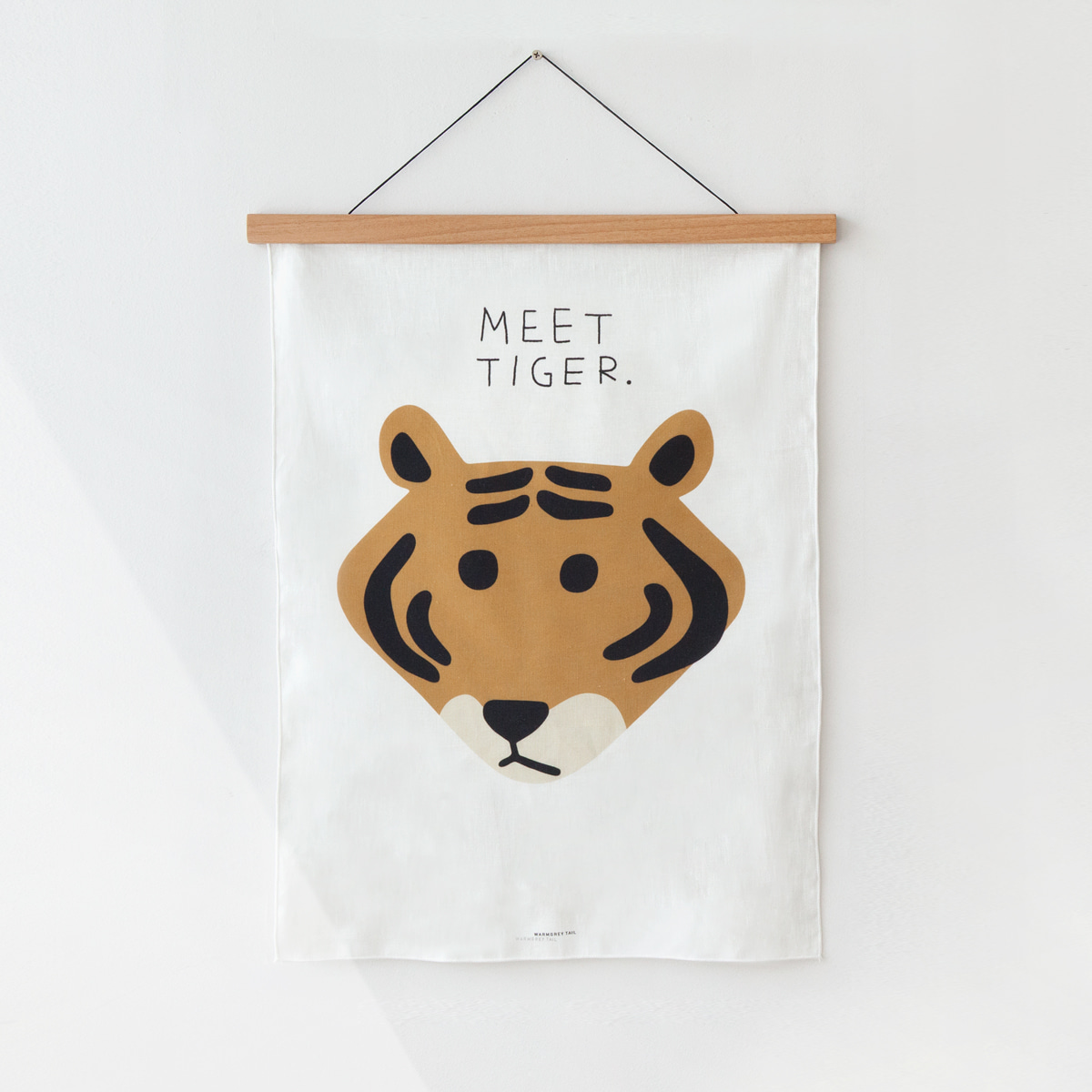 MEET TIGER FABRIC POSTER