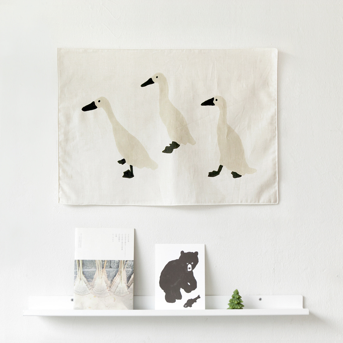 INDIAN RUNNER DUCK FABRIC POSTER