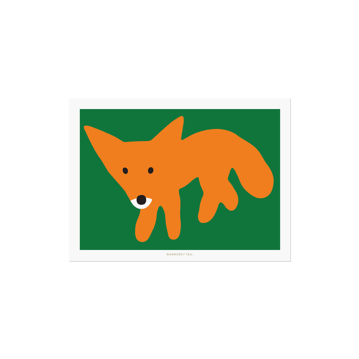 RED FOX GREEN POSTCARD