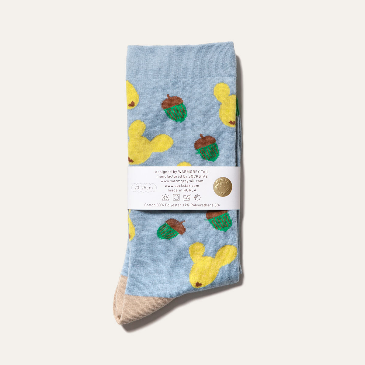 Dotori Life - Skyblue Socks