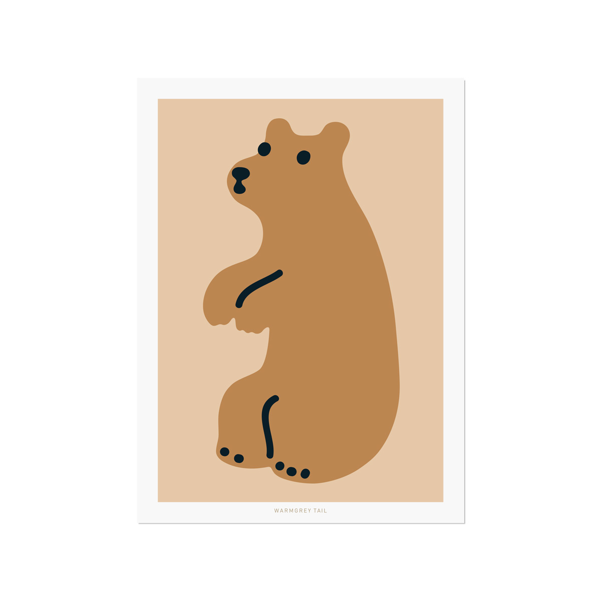 HUGGY BEAR BROWN POSTCARD