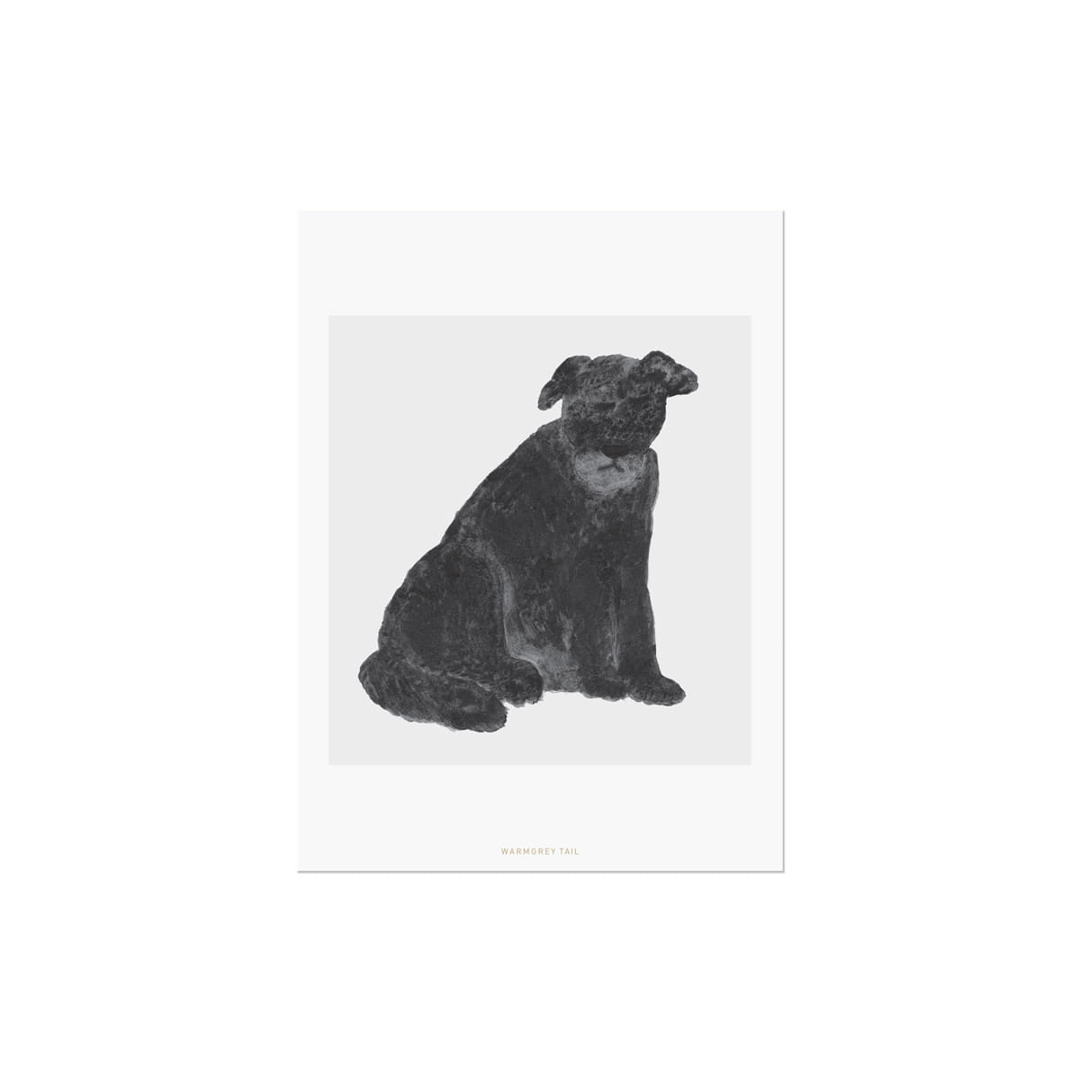 SITTING DOG POSTCARD