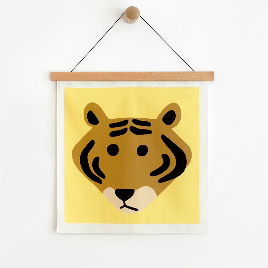 MEET TIGER YELLOW FABRIC POSTER