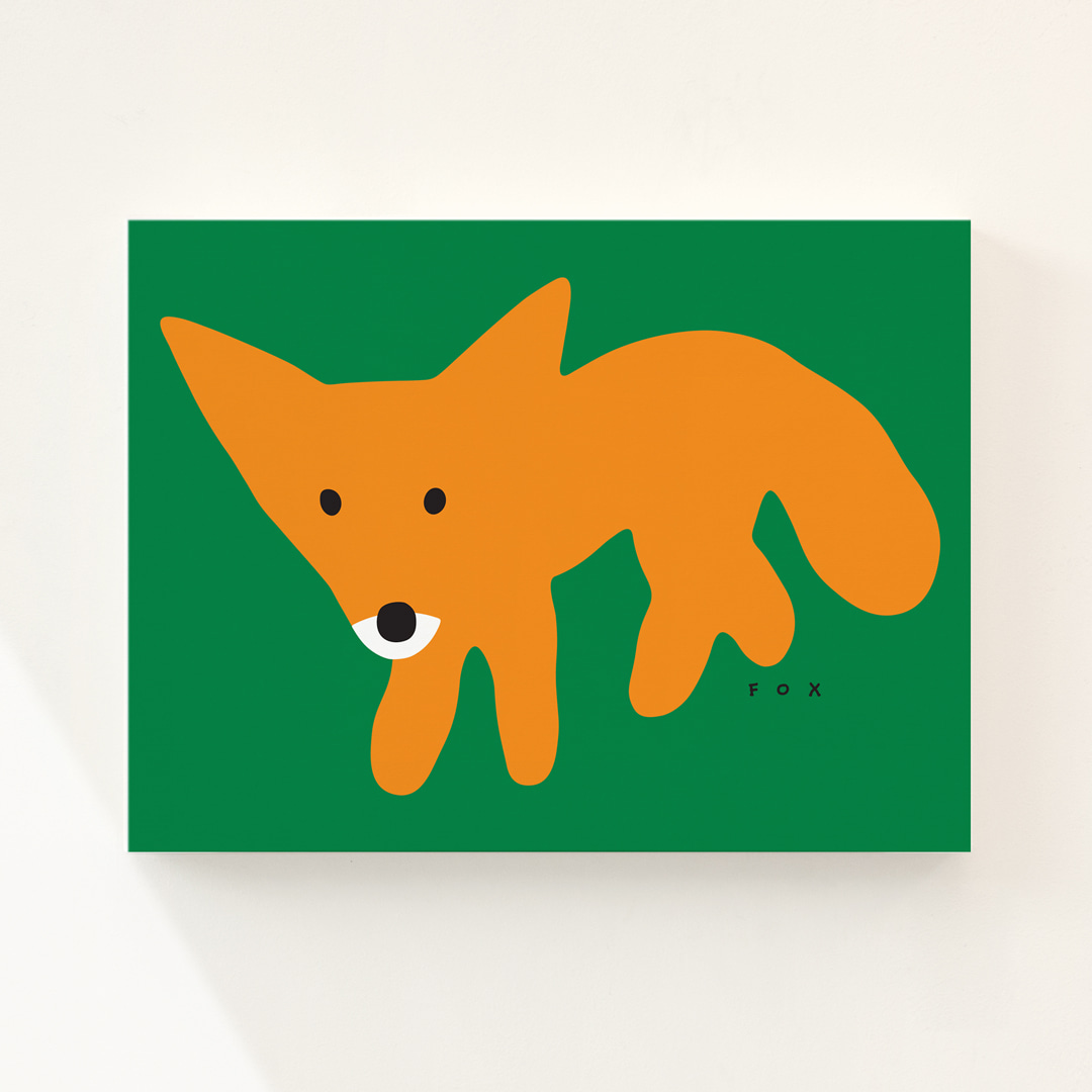 RED FOX - GREEN CANVAS