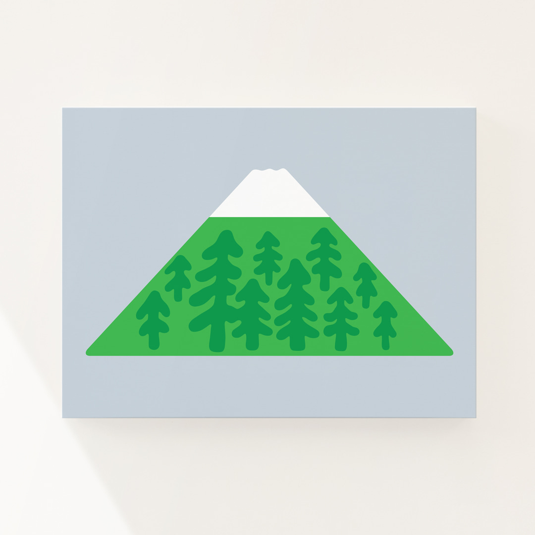 SNOW PEAK - LIHGT BLUE CANVAS