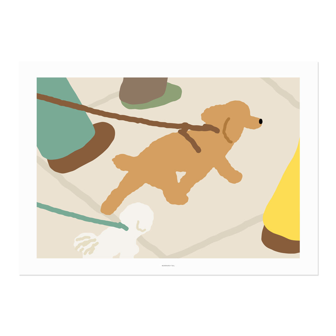 WALKING DOG POSTER