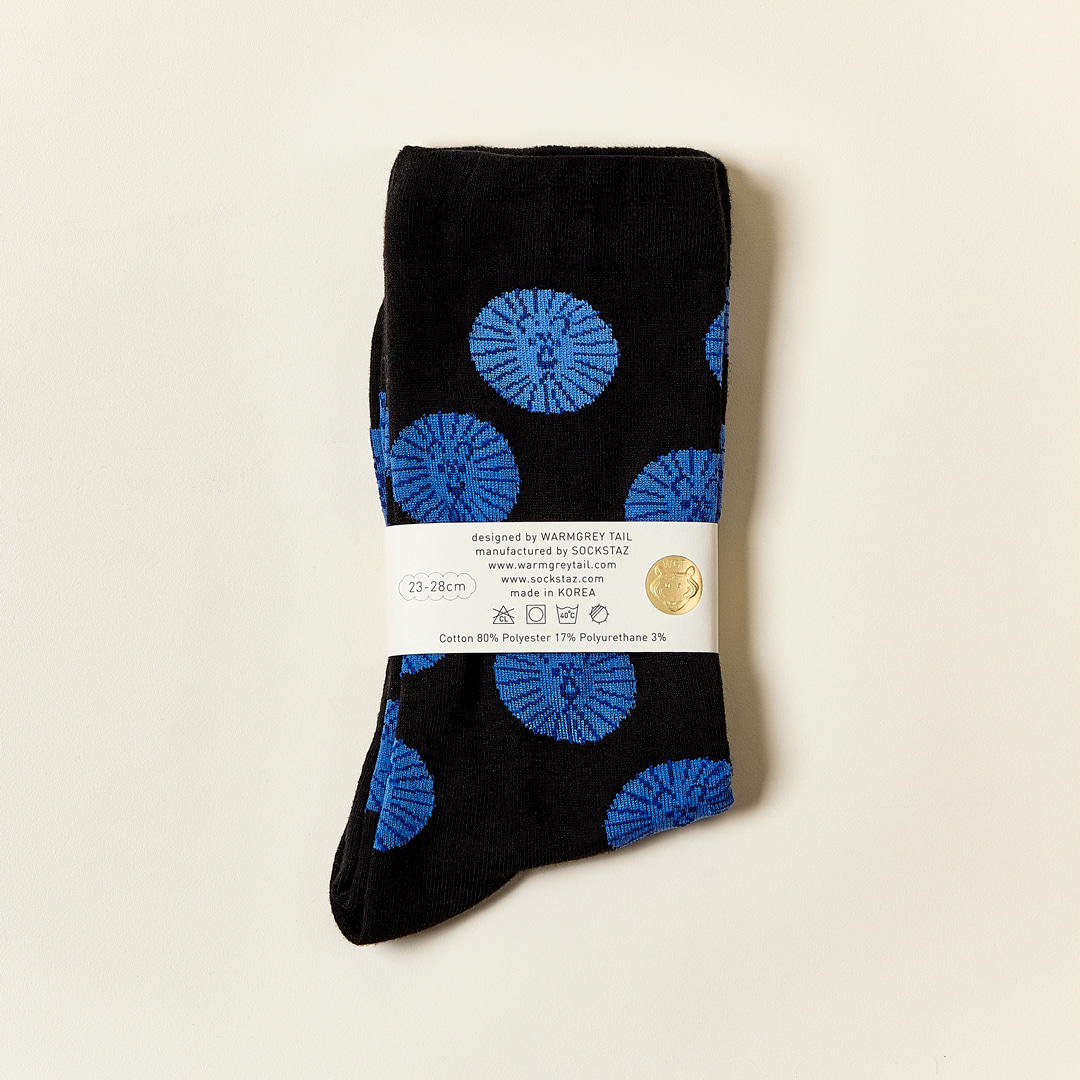 LION - BLUE BLACK SOCKS