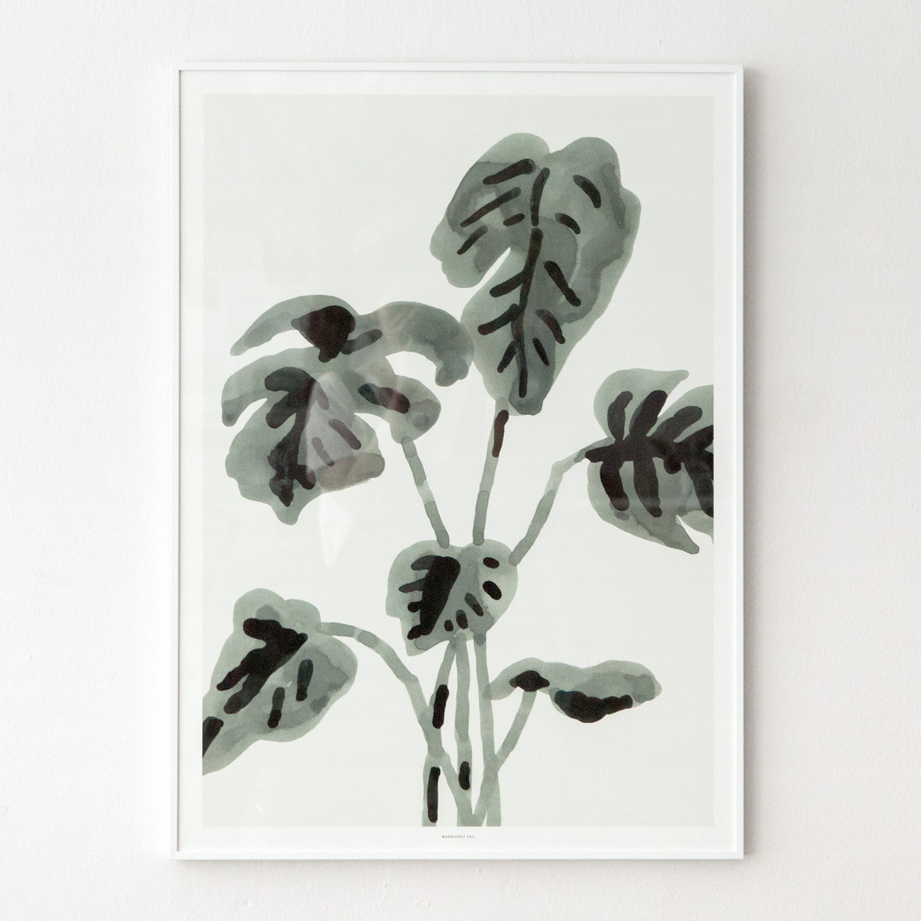 PALM TREE - GREY POSTER