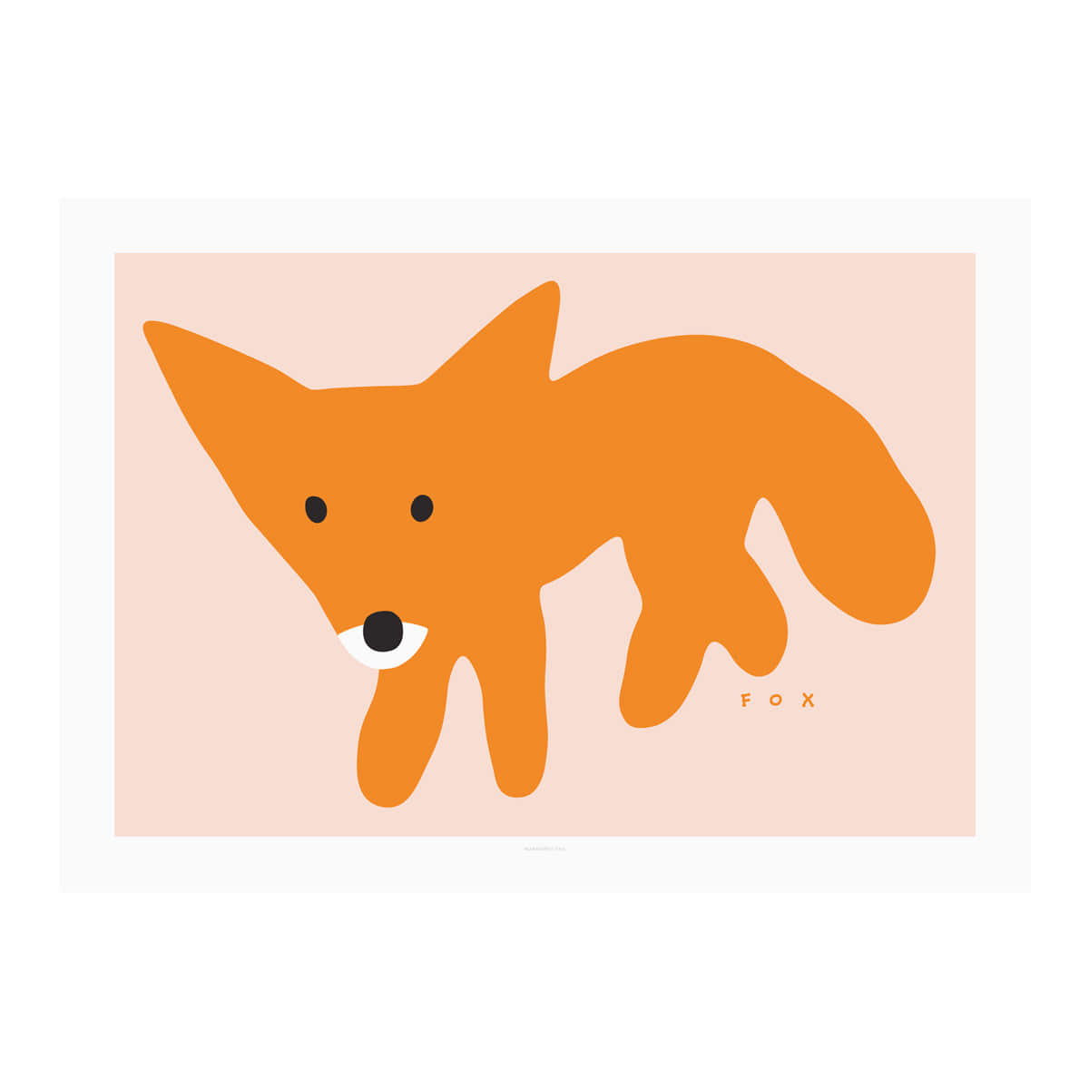 RED FOX-PINK POSTER