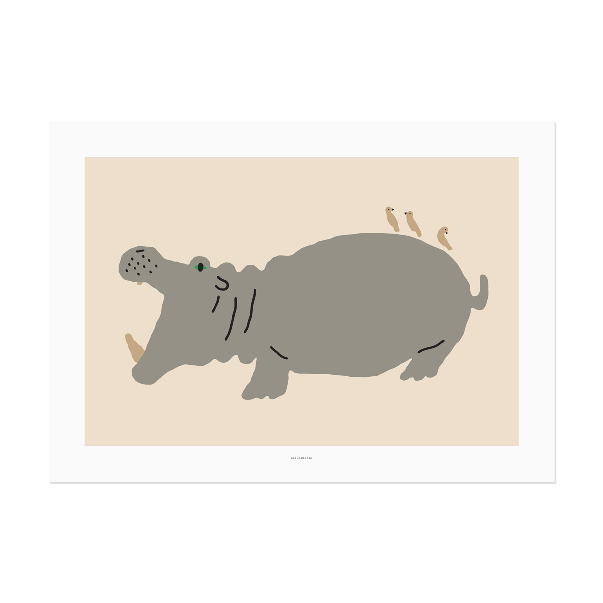 BIG HIPPO POSTER