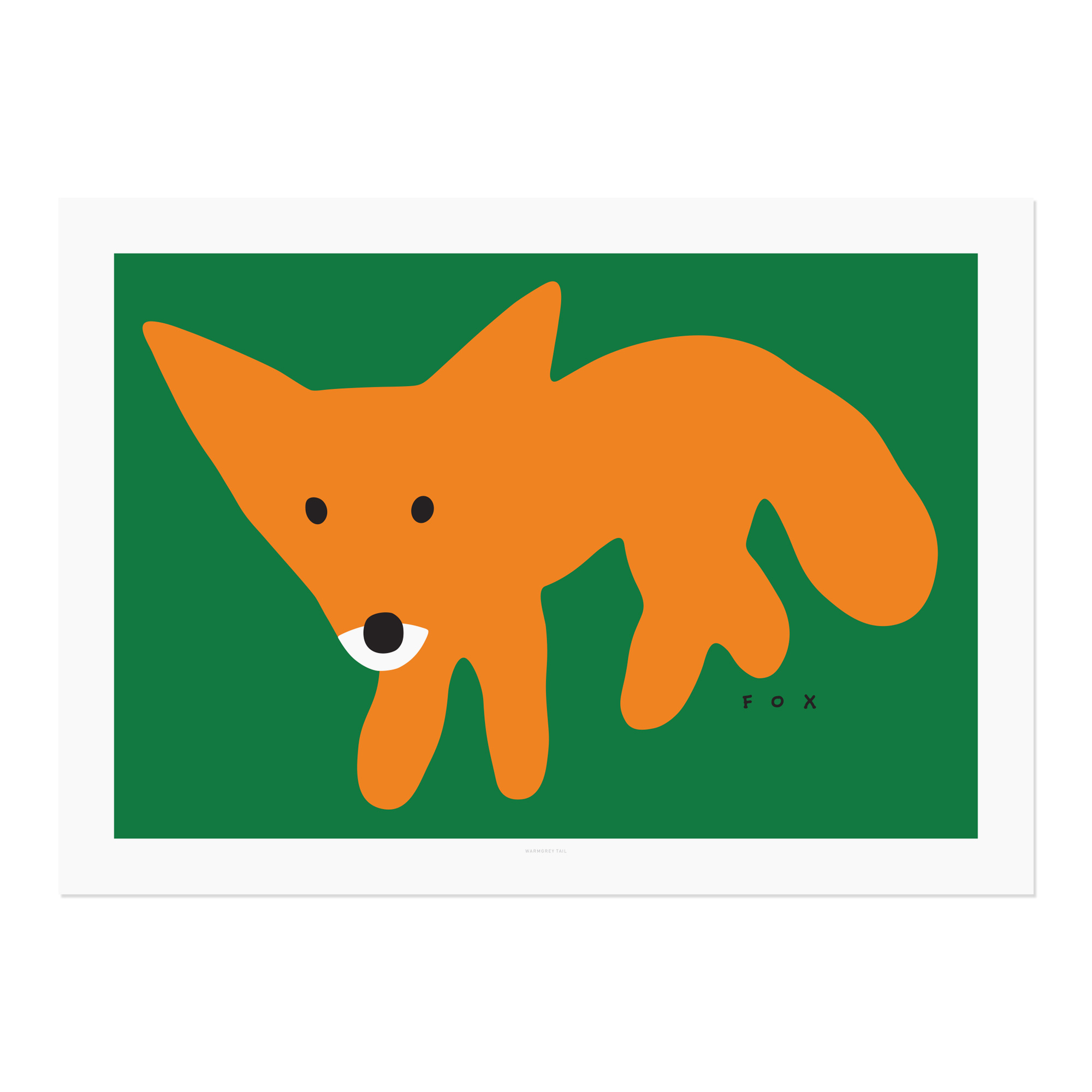 RED FOX-GREEN POSTER